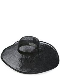 schwarzer Strohhut von Isabel Benenato