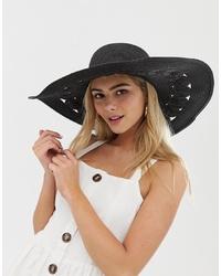 schwarzer Strohhut von Miss Selfridge