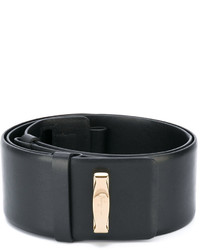 schwarzer Taillengürtel von Salvatore Ferragamo