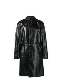 schwarzer Trenchcoat von Alexander McQueen