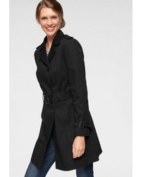 schwarzer Trenchcoat von Aniston CASUAL