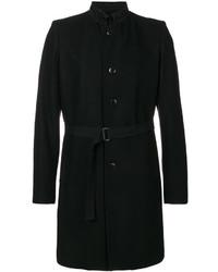 schwarzer Trenchcoat von Ann Demeulemeester