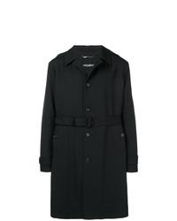 schwarzer Trenchcoat von Dolce & Gabbana