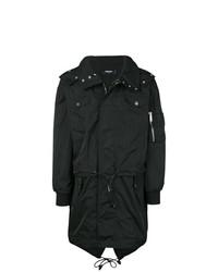 schwarzer Trenchcoat von DSQUARED2