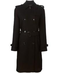 schwarzer Trenchcoat von Moschino