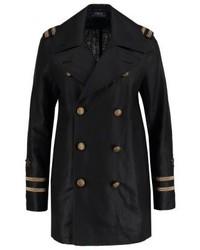 schwarzer Trenchcoat von Ralph Lauren