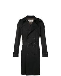 schwarzer Trenchcoat von Saint Laurent