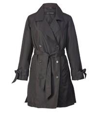 schwarzer Trenchcoat von Sara Lindholm by Happy Size