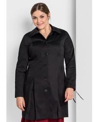 schwarzer Trenchcoat von SHEEGO STYLE