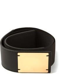 schwarzer und goldener elastischer Taillengürtel von Marni