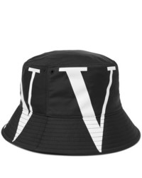 schwarzer und weißer bedruckter Fischerhut von Valentino