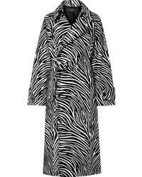 schwarzer und weißer bedruckter Mantel