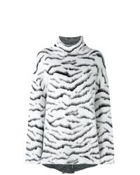 schwarzer und weißer bedruckter Oversize Pullover von Givenchy