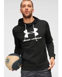 schwarzer und weißer bedruckter Pullover mit einem Kapuze von Under Armour