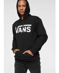 schwarzer und weißer bedruckter Pullover mit einem Kapuze von Vans