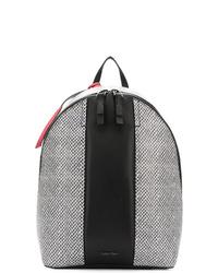 schwarzer und weißer bedruckter Rucksack von Calvin Klein