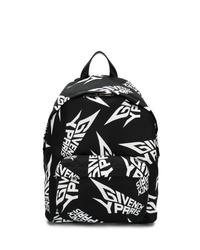 schwarzer und weißer bedruckter Rucksack von Givenchy