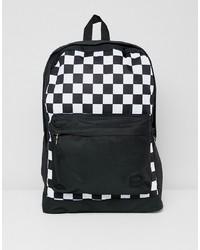 schwarzer und weißer bedruckter Rucksack von Jack & Jones