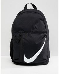 schwarzer und weißer bedruckter Rucksack von Nike