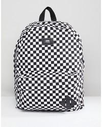 schwarzer und weißer bedruckter Rucksack von Vans