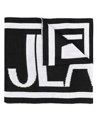 schwarzer und weißer bedruckter Schal von VERSACE JEANS COUTURE