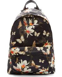 schwarzer und weißer bedruckter Segeltuch Rucksack von Givenchy