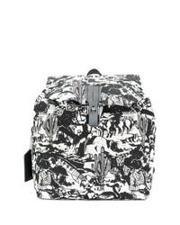 schwarzer und weißer bedruckter Segeltuch Rucksack von Golden Goose Deluxe Brand