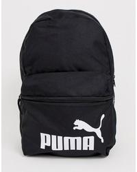 schwarzer und weißer bedruckter Segeltuch Rucksack von Puma