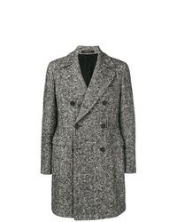 schwarzer und weißer Mantel mit Chevron-Muster von Tagliatore