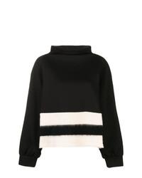 schwarzer und weißer horizontal gestreifter Rollkragenpullover von Pierantoniogaspari