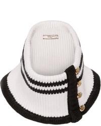 schwarzer und weißer horizontal gestreifter Schal von Bouchra Jarrar