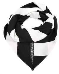schwarzer und weißer horizontal gestreifter Schal von Givenchy