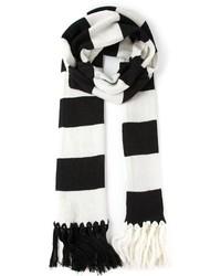 schwarzer und weißer horizontal gestreifter Schal