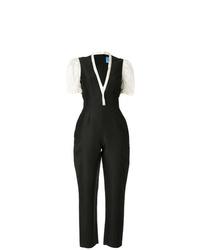 schwarzer und weißer Jumpsuit von Macgraw