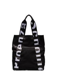 schwarzer und weißer Leder Rucksack von Proenza Schouler