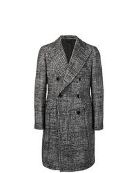 schwarzer und weißer Mantel mit Hahnentritt-Muster von Tagliatore