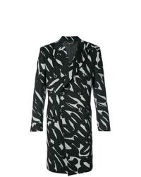 schwarzer und weißer Mantel von Versace