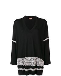 schwarzer und weißer Oversize Pullover von Ermanno Scervino