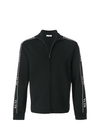 schwarzer und weißer Pullover mit einem Reißverschluß von Valentino