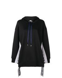 schwarzer und weißer Pullover mit einer Kapuze von Stella McCartney