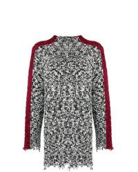 schwarzer und weißer Pullover mit einem Rundhalsausschnitt von Pinko