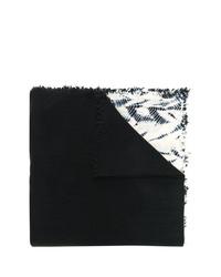 schwarzer und weißer Mit Batikmuster Schal von Suzusan