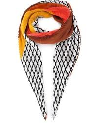 schwarzer und weißer Schal mit Karomuster von Issey Miyake