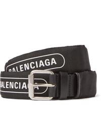 schwarzer und weißer Segeltuchgürtel von Balenciaga