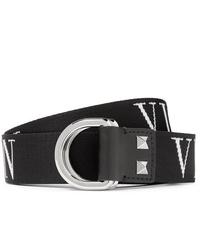 schwarzer und weißer Segeltuchgürtel von Valentino