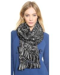 schwarzer und weißer Strick Schal von Madewell