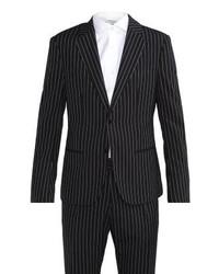 schwarzer vertikal gestreifter Anzug von Antony Morato