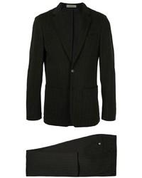 schwarzer vertikal gestreifter Anzug von Corneliani