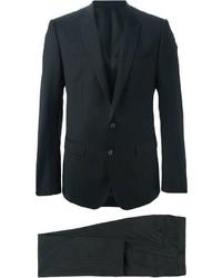 schwarzer vertikal gestreifter Anzug von Dolce & Gabbana