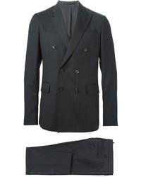 schwarzer vertikal gestreifter Anzug von DSQUARED2